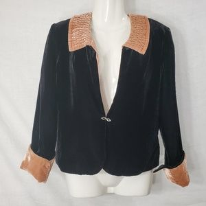 Soft Surroundings Black Velvet Blazer